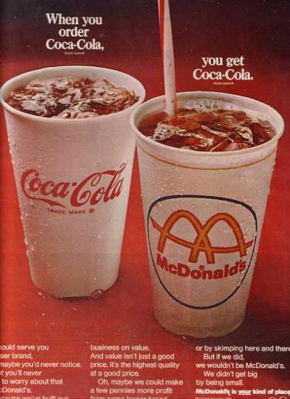 When you order Coca-Cola, you get Coca-Cola 1968