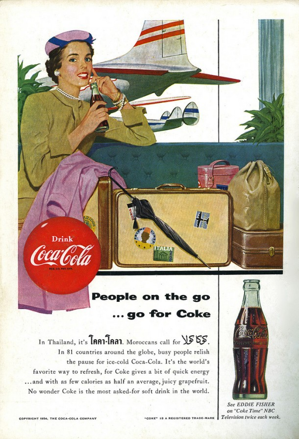 People on the go... go for Coke 1954