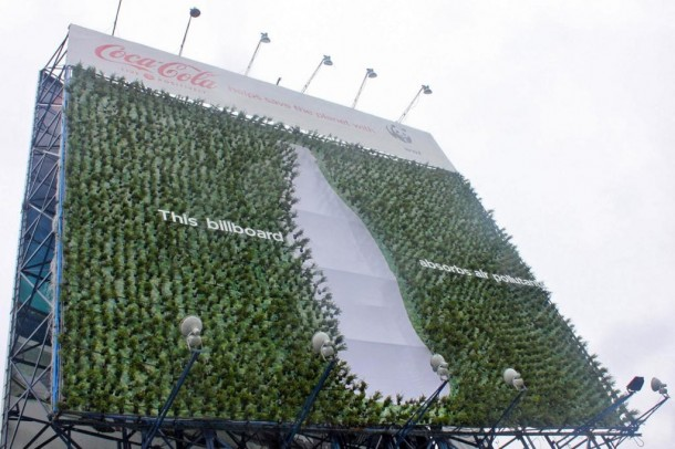 "Coca-Cola goes green ""Plant billboard"", 2011"