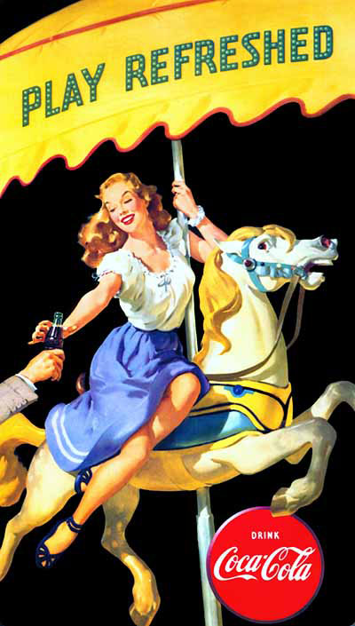 """""""Play Refreshed"""" 1948 by Gil Elvgren"""