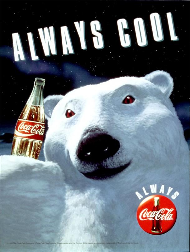 "Coca-Cola polar bear ""Always cool"" 1993"