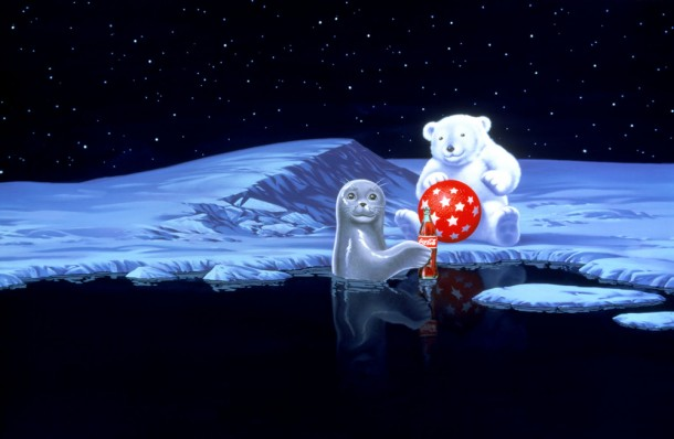 Coca-Cola polar bear and seal 1996