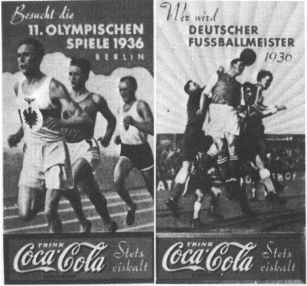 Coca-Cola posters for Nazi Germany summer Olympic Games 1936