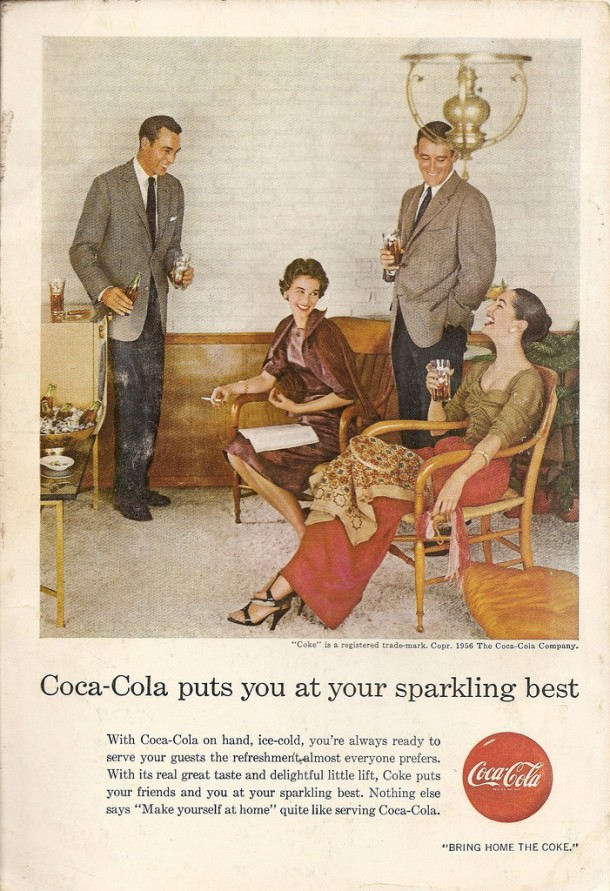 Coca-Cola puts you at your sparkling best 1956