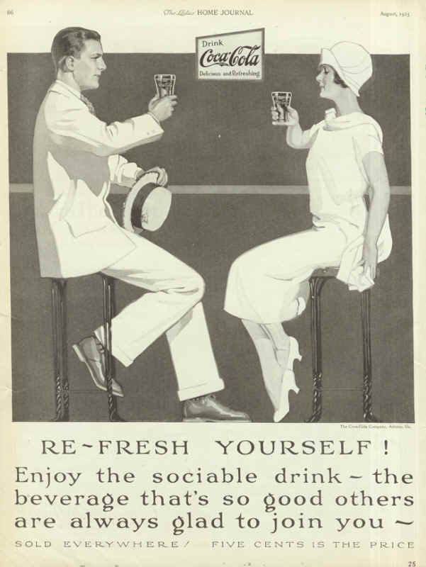 Refresh yourself! Enjoy the sociable drink - the beverage that's so good other are always glad to join you.