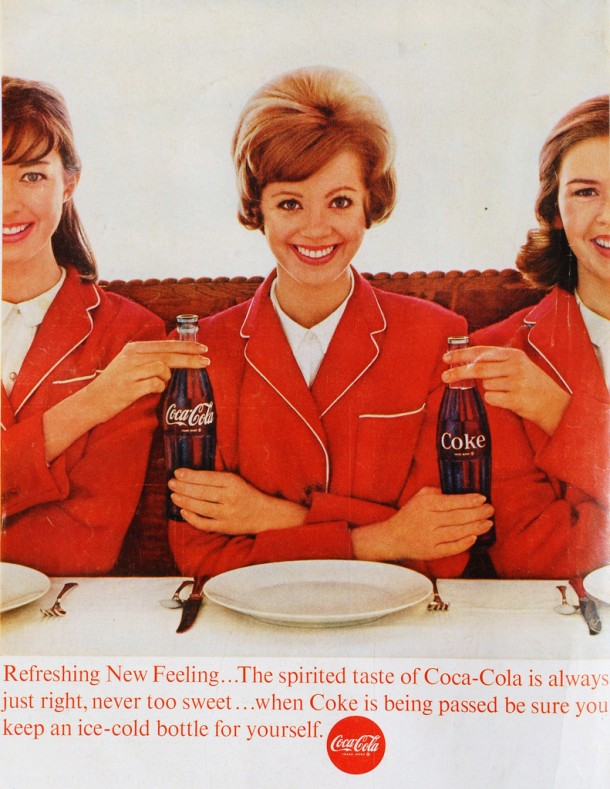 Coca-Cola Refreshing new feeling 1963