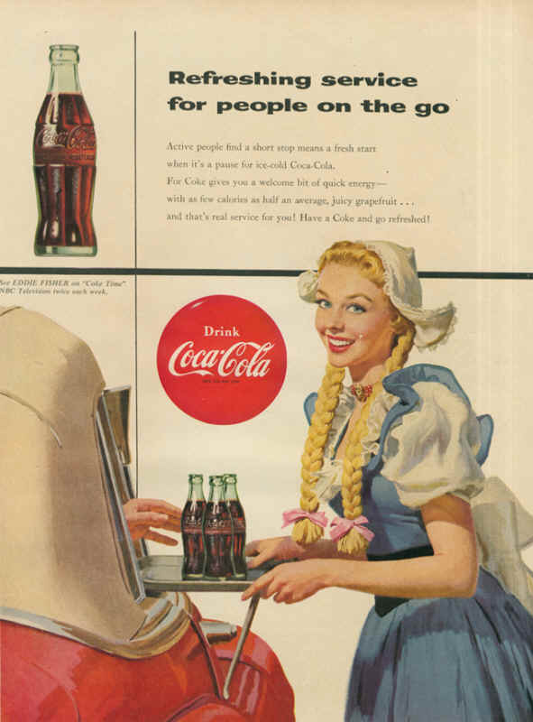 Refreshing service for people on the go 1954