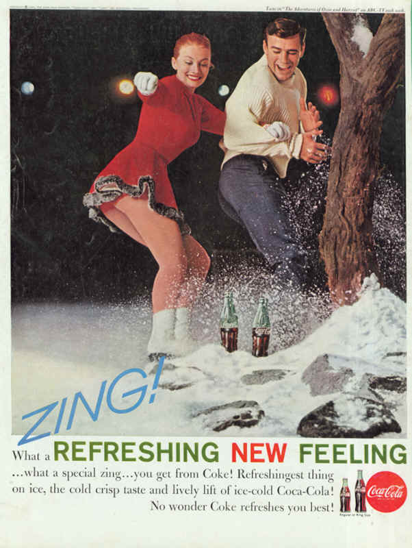 Coca-Cola Refreshingest thing on ice 1961