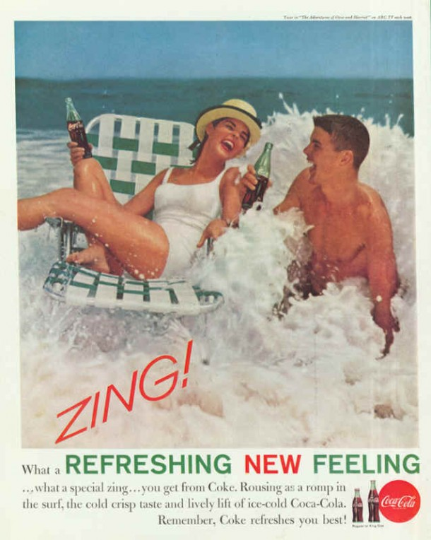 Coca-Cola Rousing as a romp in the surf 1961