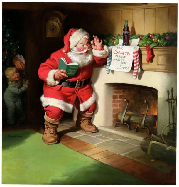 1963 Coca-Cola Santa Claus original painting
