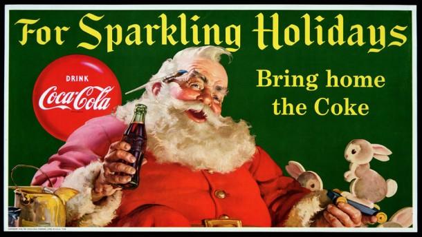 Coca-Cola Santa Claus poster 1956