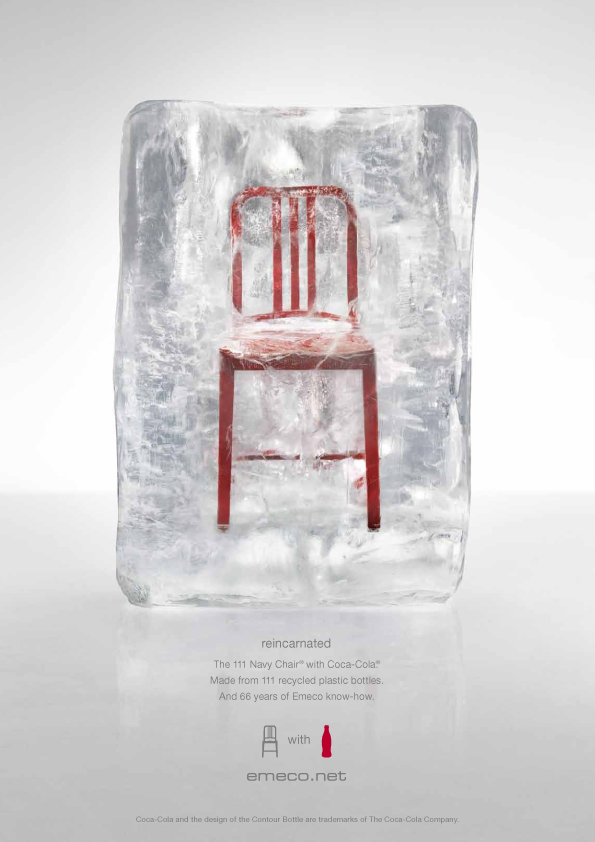 The 111 Navy Chair with Coca-Cola