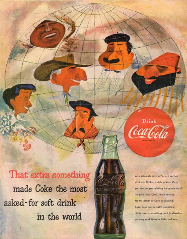 That extra something made Coke the most asked-for soft drink in the world 1954