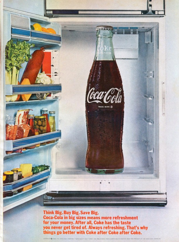 Coca-Cola Think big. Buy big. Save big 1964