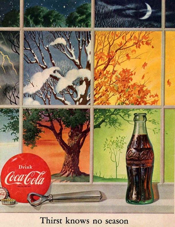 Coca-Cola thirst knows no season 1952