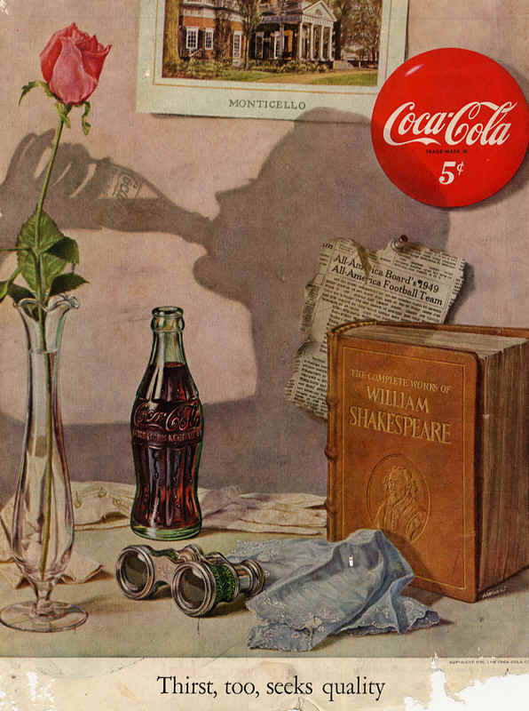 Thirst, too, seeks quality 1950