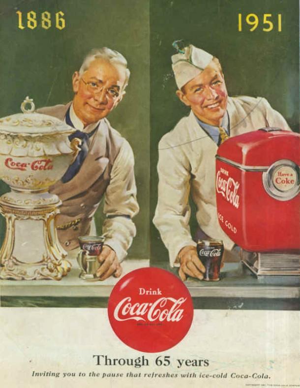 Coca-Cola through 65 years 1951
