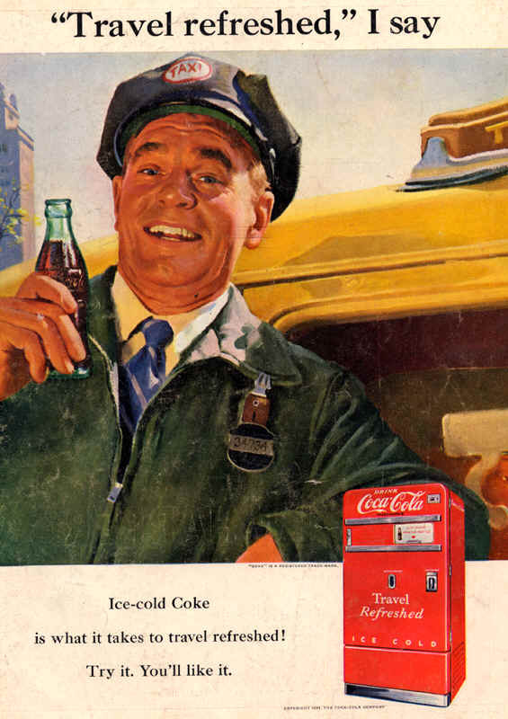 Coca-Cola travel refreshed 1951