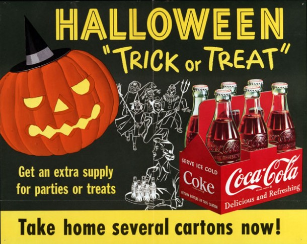 "Halloween ""Trick or Treat"" poster from 1954"