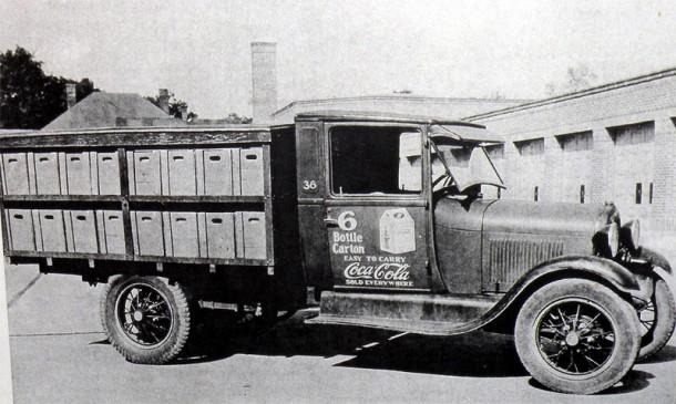 Coca-Cola delivery truck 1930s