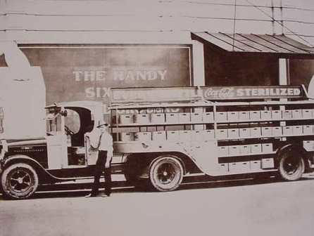 Coca Cola Truck 1930's Featuring the Handy 6 Pack