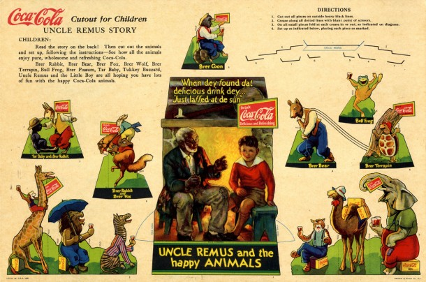 1932 Coca-Cola Uncle Remus Cutout That Sparked Copyright Lawsuit