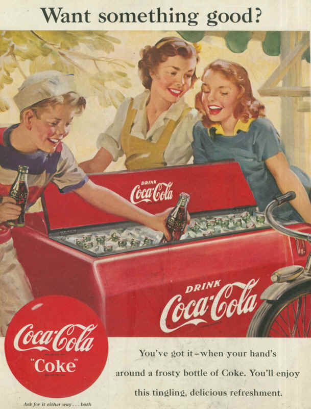 Coca-Cola want something good? 1951