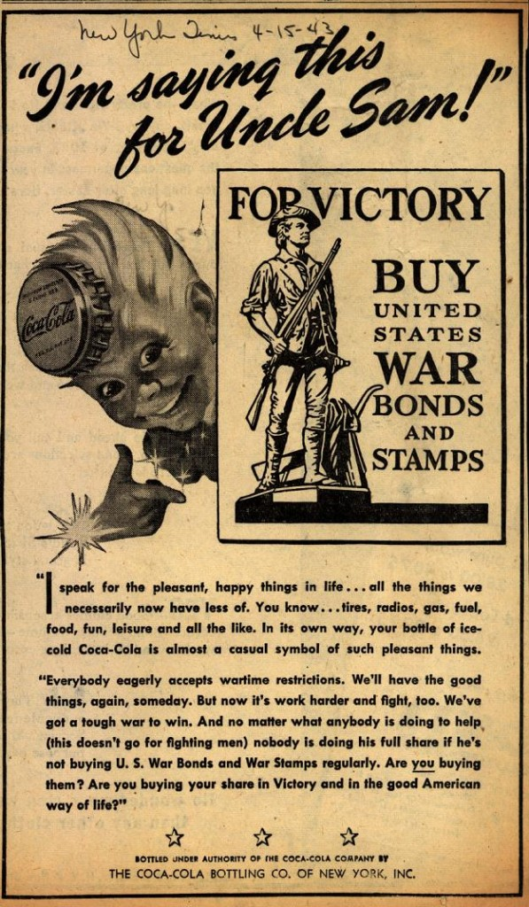 Coca-Cola War Bonds - For Victory