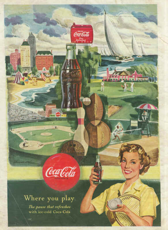 Coca-Cola where you play 1950