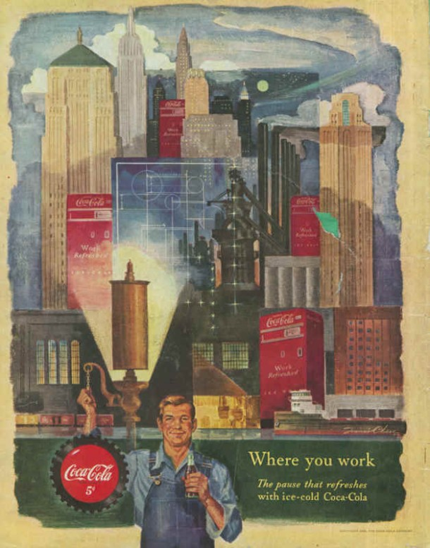 Coca-Cola where you work 1950