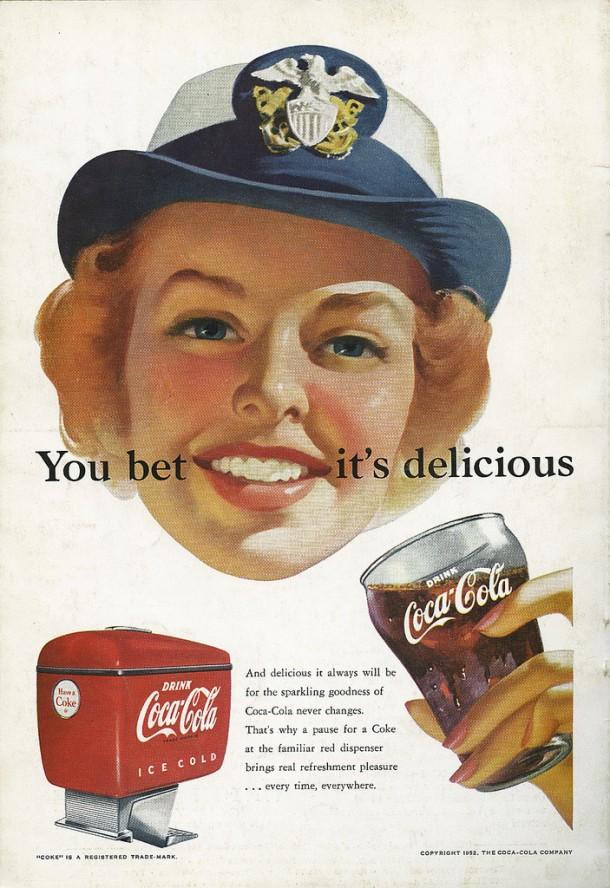 Coca-Cola you bet it's delicious 1952