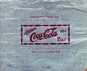 Foil Coca-Cola candy wrapper, 1925
