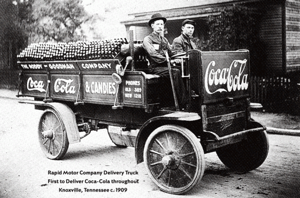 Rapid Motor Company Delivery Truck, 1909 First delivery of Coca-Cola to Knoxville, TN