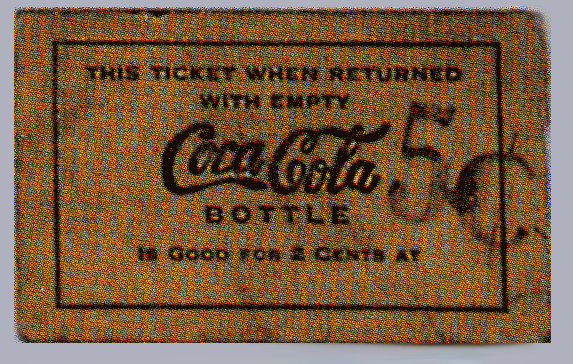 Coca Cola century deposit ticket