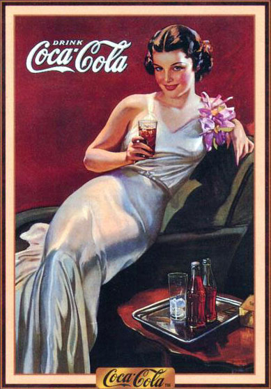 Coca-Cola pin-up girl by Gil Elvren