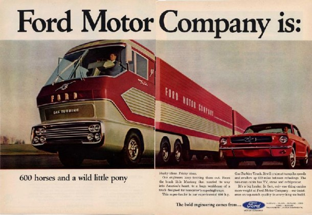 Ford Motor Company is: 600 horses and a wild little pony, 1965