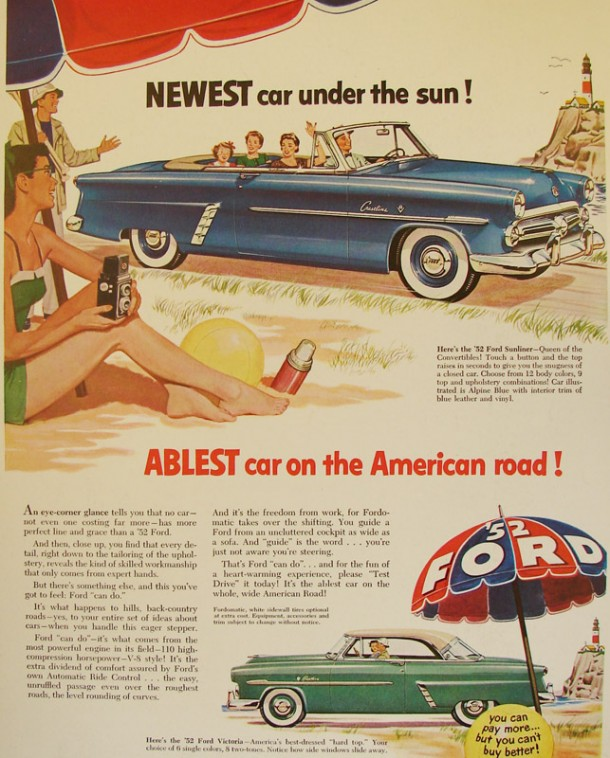 Newest car under the sun! Ablest car on the America road!, 1952