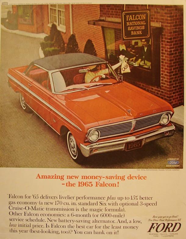 Amazing new money saving device - the Falcon, 1965