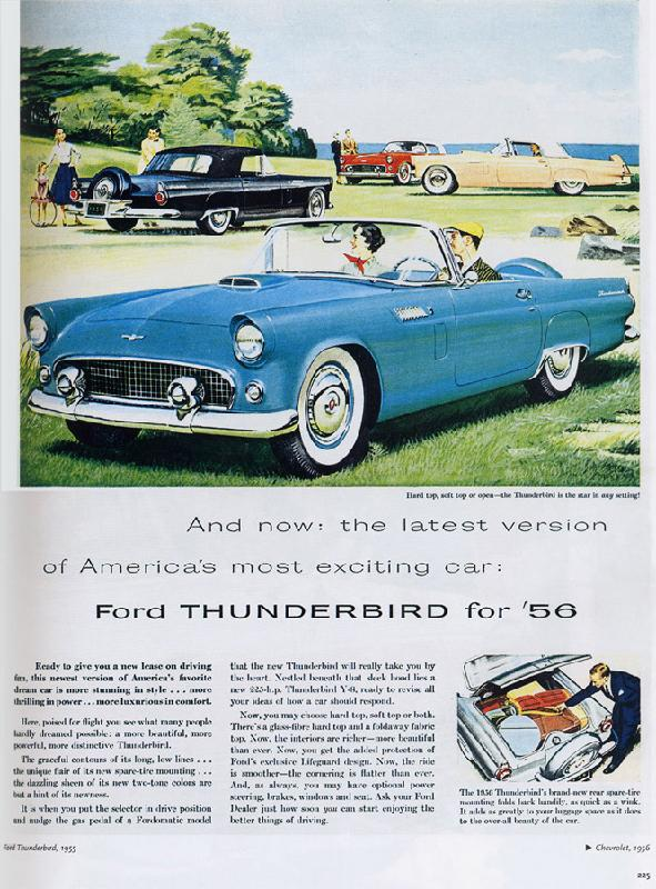 America's most exciting car: Ford Thunderbird, 1956