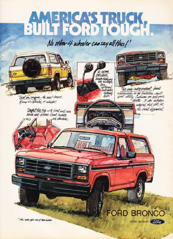 America's truck Ford Bronco, 1982