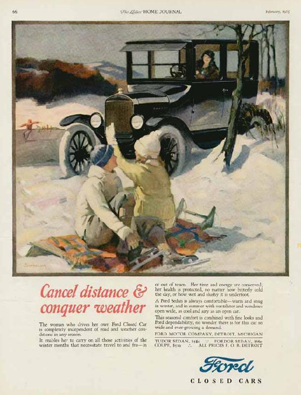 Cancel distance & conquer weather, 1925