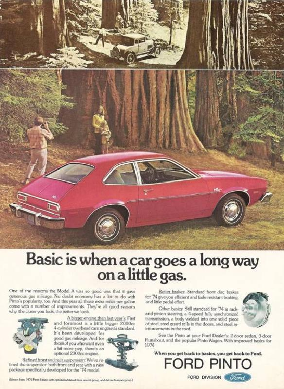 Basic is when a car goes a long way on a little gas, 1974