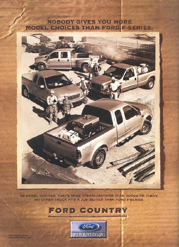 Nobody gives you more model choices than Ford F-series, 1999
