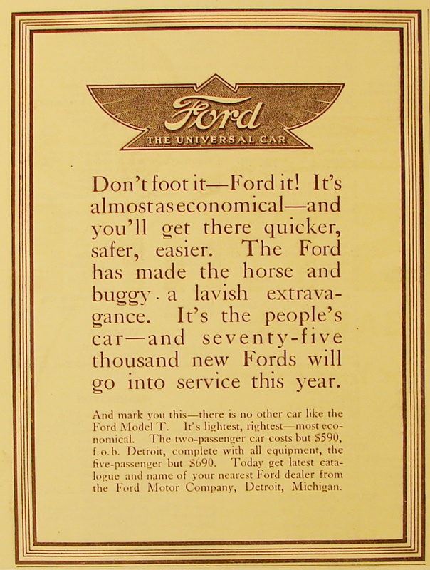 Don't foot it - Ford it! , 1912