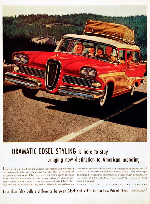 Dramatic Edsel styling is here to stay - bringing new distinction to American motoring, 1958