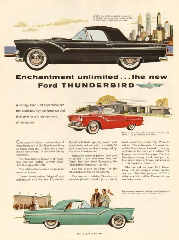 Enchantment unlimited... the new Ford Thunderbird, 1954