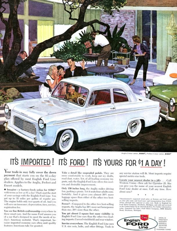 English Ford line, 1959