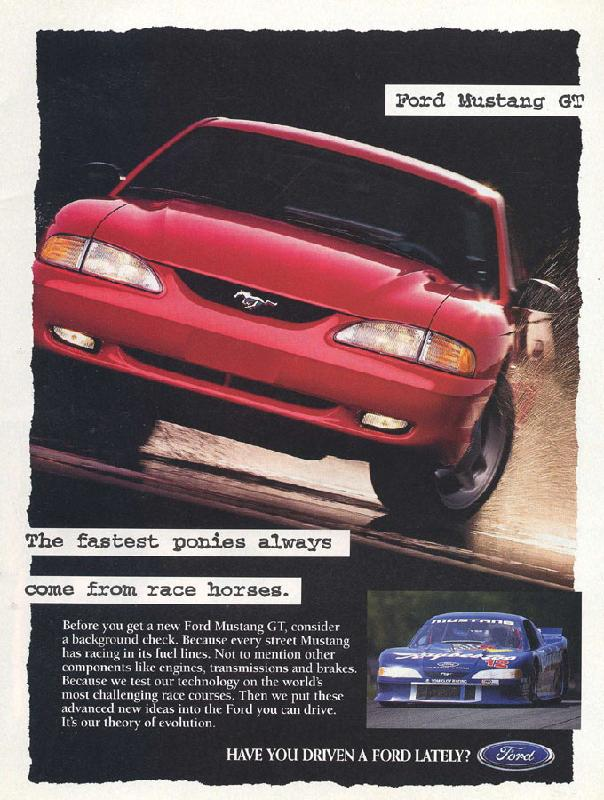 The fastest ponies always come from race horses, 1995