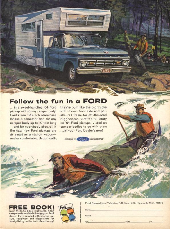 Follow the fun in a Ford, 1964