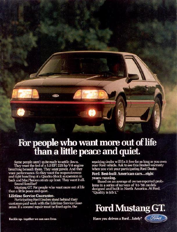 For people who want more out of life than a little peace and quiet, 1989